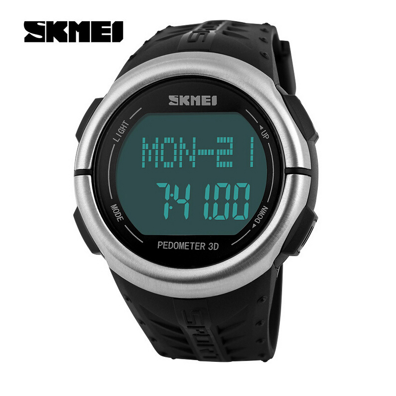 SKMEI Fashion Outdoor Sports Watches Pedometer Heart Rate Monitor Calories Counter Digital Watch Fitness font b