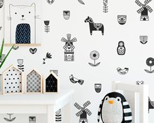 Nordic Wall Decals Netherlands Mural Decal Decor Art Sticker Boys Nursery Vinyl Stickers Kids Gift For Home Decoration
