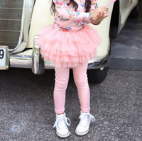 2016 New Girls Spring Autumn Cotton Pants Girl Mesh Candy Color Mesh Culottes Children All Match