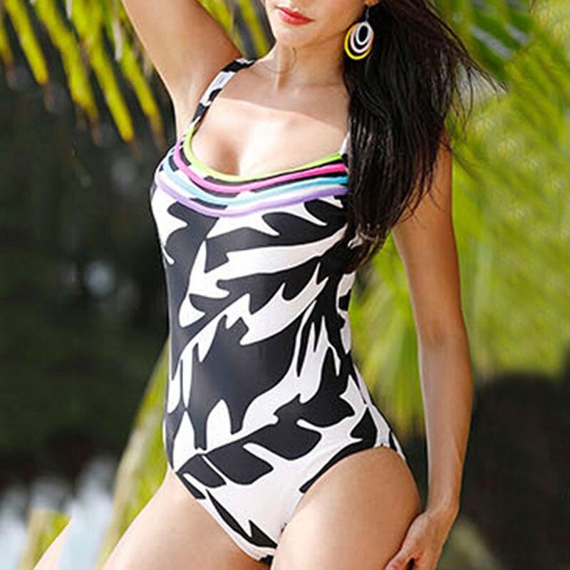 maillot de bain One Piece Swimwear 2018 Women Black White Beachwear Bathing Suit Swimwear Bathingsuit Womens Push Up Swimsuit