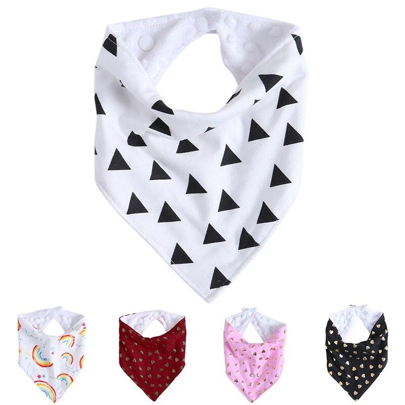 Kids Baby Feeding Head Scarf Towel Bib Boys Girl Bandana Saliva Triangle Dribble