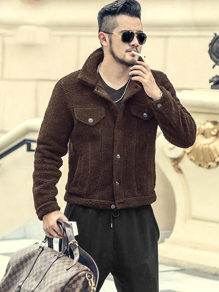 Los hombres de otoño, nuevo, de lana grueso cálido estilo europeo de lana chaqueta peludo abrigo de invierno de los hombres de la marca de Rebeca de algodón de abrigo f8217-in Chaquetas from Ropa de hombre on AliExpress - 11.11_Double 11_Singles' Day 1