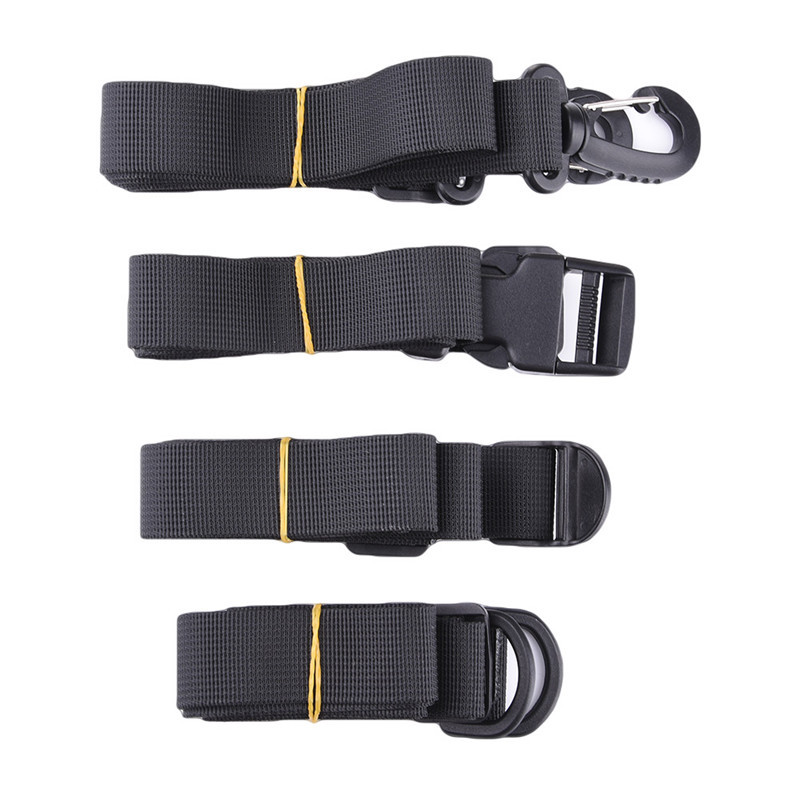 4PCS Outdoor Camping Tools EDC Emergency Strap Belt Tighten Rope Backpack Durable Luggage Lash Belt Multifunctional Travel Kits