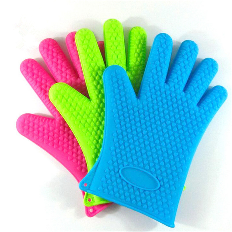 Heat Resistant Glove Oven Pot Holder BBQ Baking Cooking Mitts Kitchen Tool 1pc