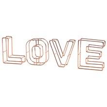 Скандинавские золотые железные буквы Маленькая подвеска для гостиной, спальни, украшение, креативная романтическая любовь, мебель из металла, letras