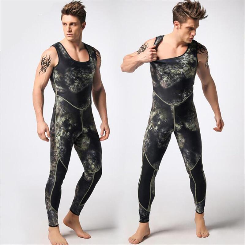 Mężczyźni 3mm neoprenu kombinezon dwuczęściowy kombinezony - Ubrania sportowe i akcesoria - Zdjęcie 3