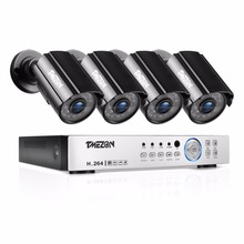 TMEZON 4CH CCTV System 4PCS 1080P Outdoor Weatherproof Security Camera 4CH 1080P DVR Day/Night Kit Video Surveillance System