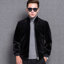 1775 New Fashion 2017 Tide Male Cashmere Wool Coat Winter Jacket Winter Male Fur Coat