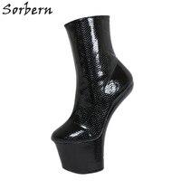 Sorbern БДСМ копыта каблуки сапоги для женщин Леди Гага Косплей ботиночки Crossdressed доминатрикс унисекс heeless экзотические танцовщицы обувь