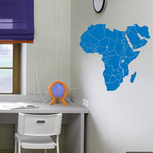 Wall Decal Vinyl Sticker Africa World Map of  Countries Home Decor Office Childrens Room Murals W-51