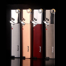 Free Shipping Compact Jet Lighter Gas Torch Turbo Strip Windproof All Metal Cigar 1300 C Butane