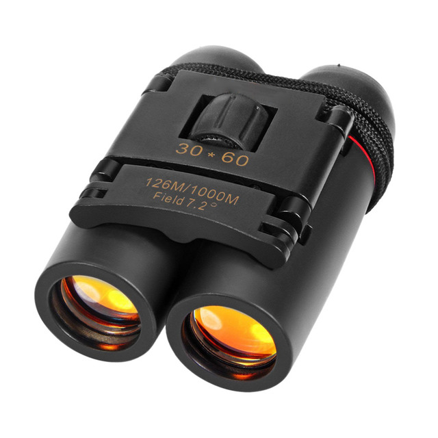 Hot Sale Day Night Vision 30 x 60 Zoom Outdoor Travel Folding Binoculars Telescope 126M-1000M