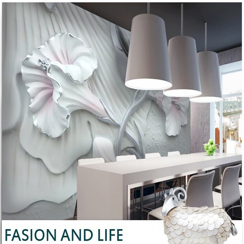 beibehang papel de parede Custom 3D stereo anti lily wallpaper mural for living room dining room TV backdrop 3D wallpaper vinyl book knowledge power channel creative 3d large mural wallpaper 3d bedroom living room tv backdrop painting wallpaper