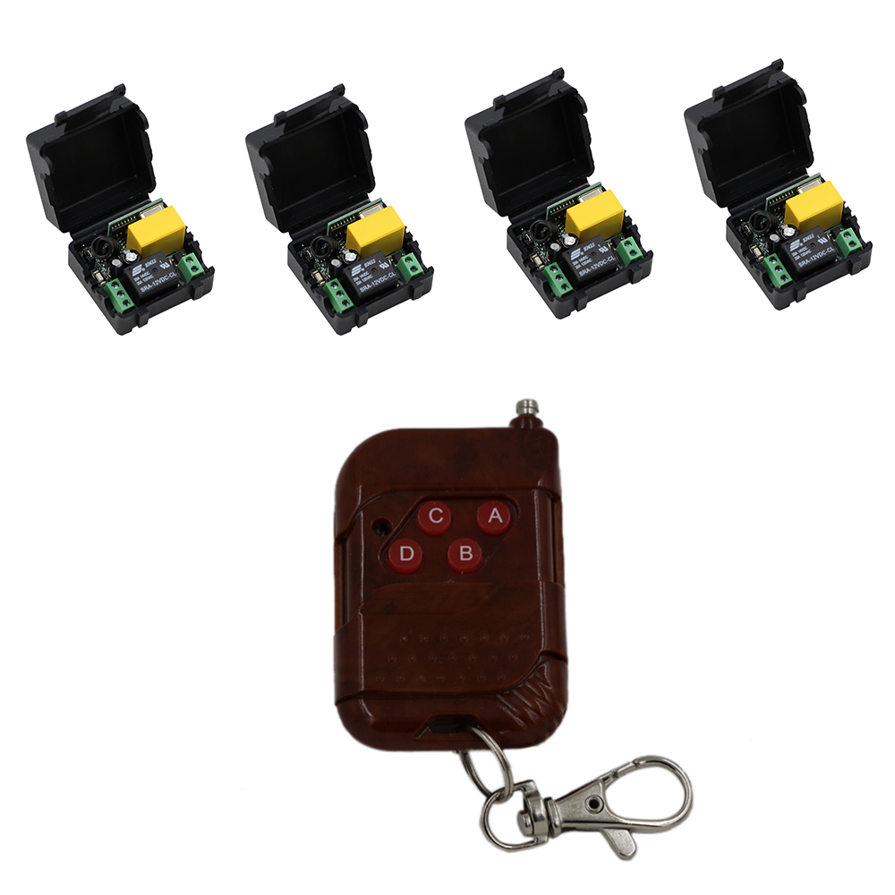 RF Remote Switch Wireless Remote Control Switch Remote Power ON/OFF For Lighting Motor Curtain Relay Module With Transmitter 2pcs receiver transmitters with 2 dual button remote control wireless remote control switch led light lamp remote on off system