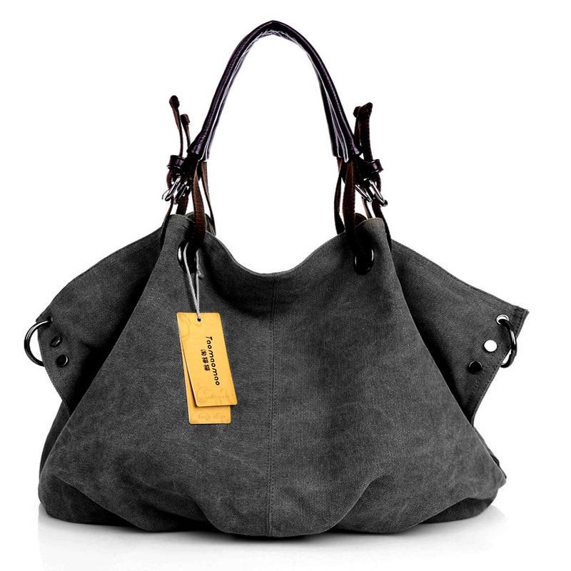 Women/'s Canvas Leather Tote Handbag Shoulder Bag Fashion Casual Messenger