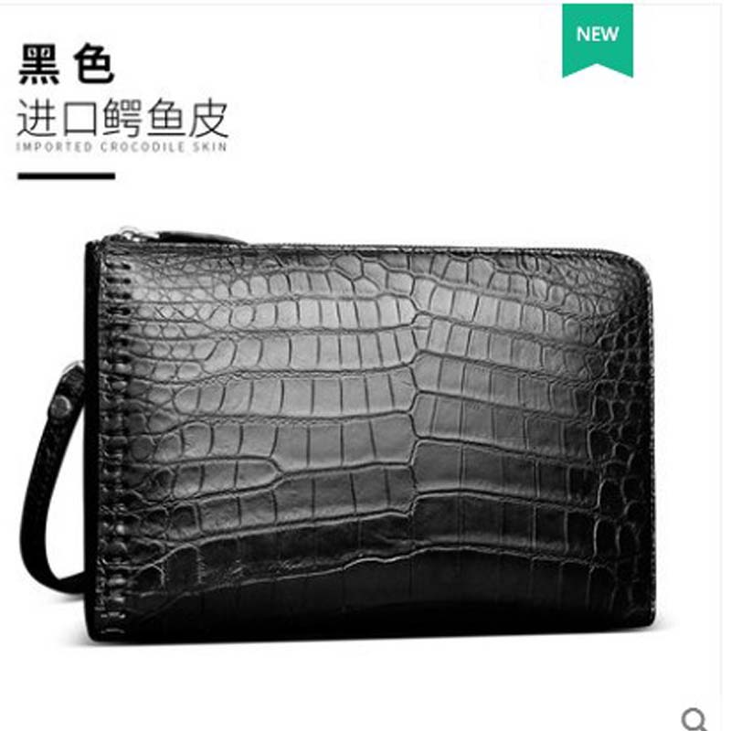 gete 2019 new man bag genuine crocodile leather hand bag belly  no stitching long purse clutch bag gete 2019 new man bag genuine crocodile leather hand bag belly  no stitching long purse clutch bag