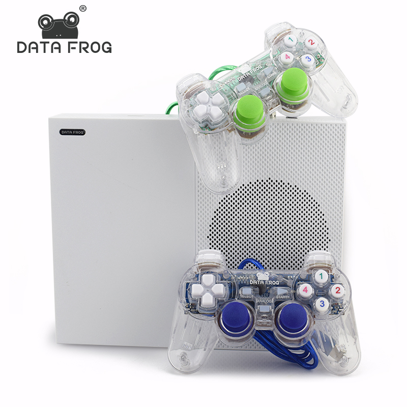 Data Frog 2017 New 4GB Video Game Console TV Consoles with 600 Games Transparent Gamepad Family Player for GBA/NEOGEO/NES/SNES 4 styles hdmi av pal ntsc mini console video tv handheld game player video game console to tv with 620 500 games