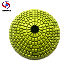 цена на 4 100mm arc-shaped Trapezoid Teeth Flexible Wet Polishing Pads/diamond arc-shaped polishing pads for granite and marble (N001)