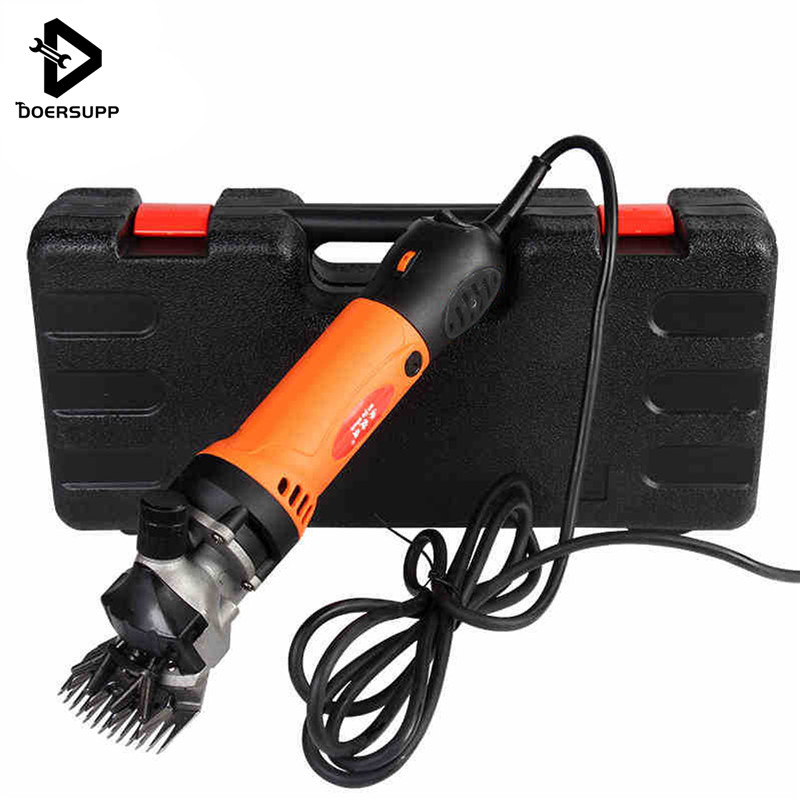 Doersupp 690W AC 220V Electric Shearing Clipper Shear For Sheep/Goat Livestock Pet Cutter Scissors Machines With Accessories new 680w sheep wool clipper electric sheep goats shearing clipper shears 1 set 13 straight tooth blade comb