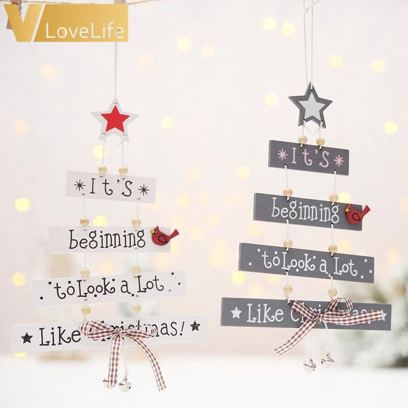 Blanco Navidad Adorno De Artesanía Feliz Navidad Hierro En Letras De Fieltro
