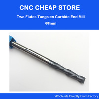 1PC 2 Two Double Flutes HRC55 Extra Long Shank Length 150mm Tungsten Carbide End Mill Bit