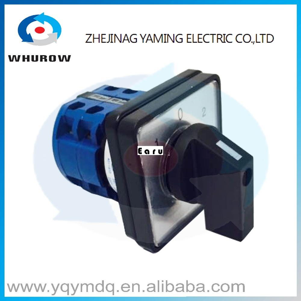 LW26-20/2 high dc voltage automatic electrical changeover rotary cam switch two poles 3 positions 20A sliver point contacts rotary switch 3 positions lw6 2 b184 green changeover cam universal switch 380v 5a 2 pole 12 terminals sliver contacts