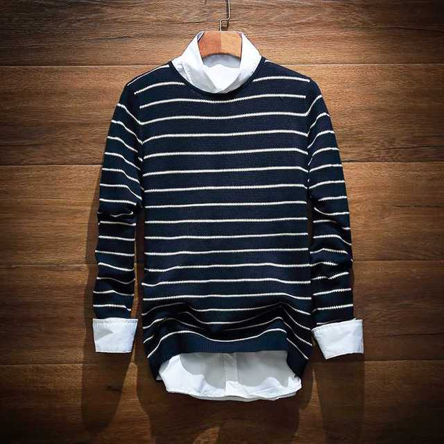 New Arrive New 526 Fashion Horizontal Stripe Sweater Mens To Keep