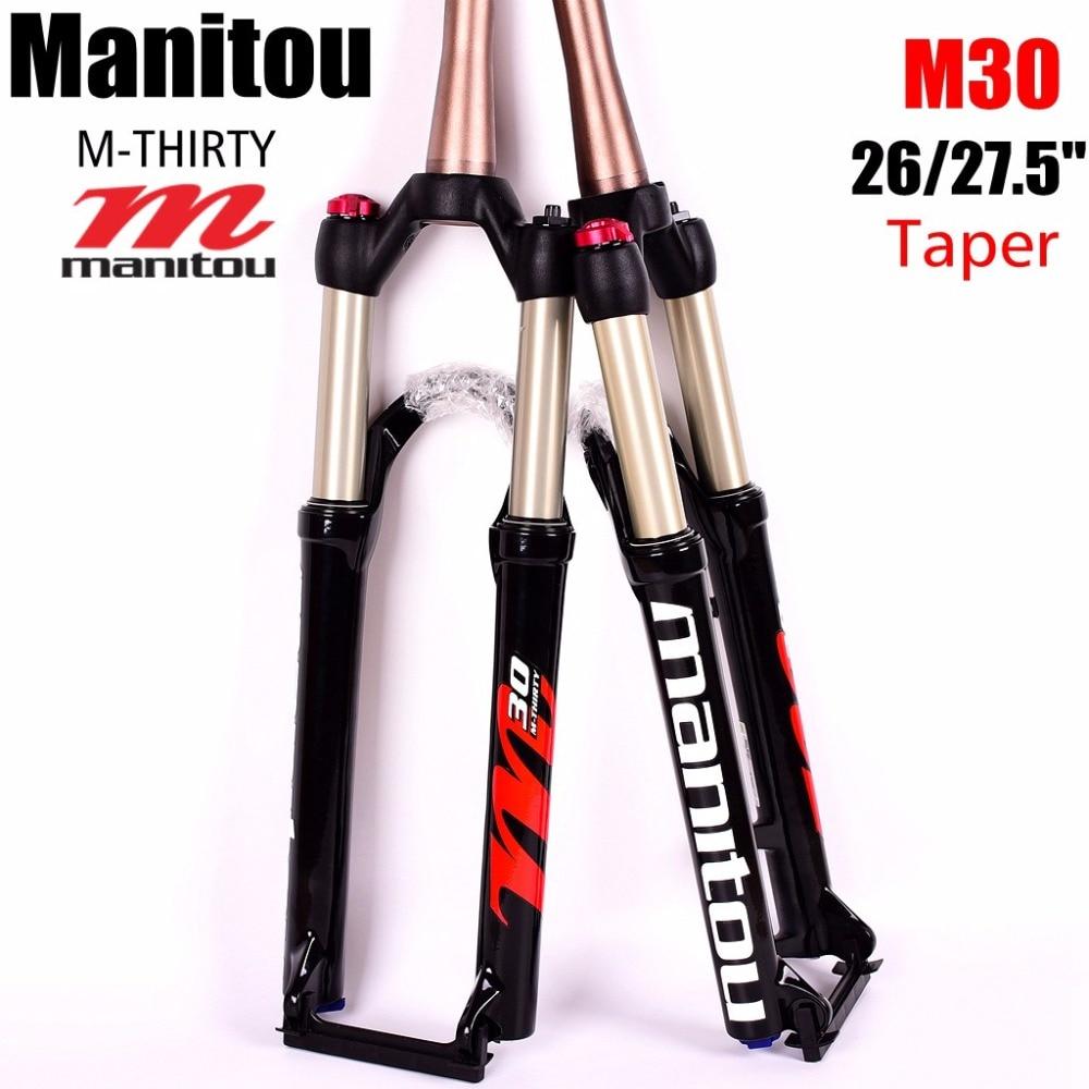 Manitou M THIRTY M30 27 5 650B 26er Fork Taper 100 9mm Manual Remote lockout Mountain