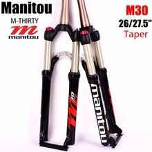 """Manitou M THIRTY M30 27.5 """"650B 26er Forcella Conico 100*9 millimetri Manuale/A Distanza di blocco Mountain bike MTB forcella della bicicletta di aria PK Marvel Comp"""