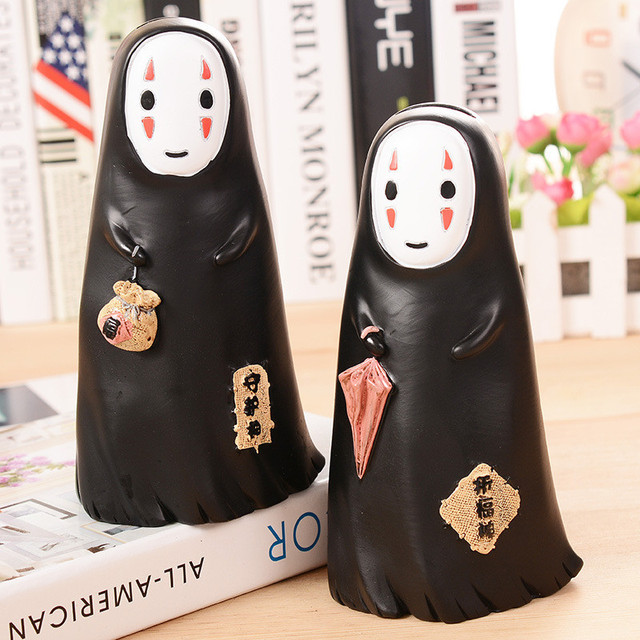 New Cartoon Resin Large Piggy Bank Funny Doll No Face Figurine Model For Kids Toy Home Decoration Gift112*208mm Money Box