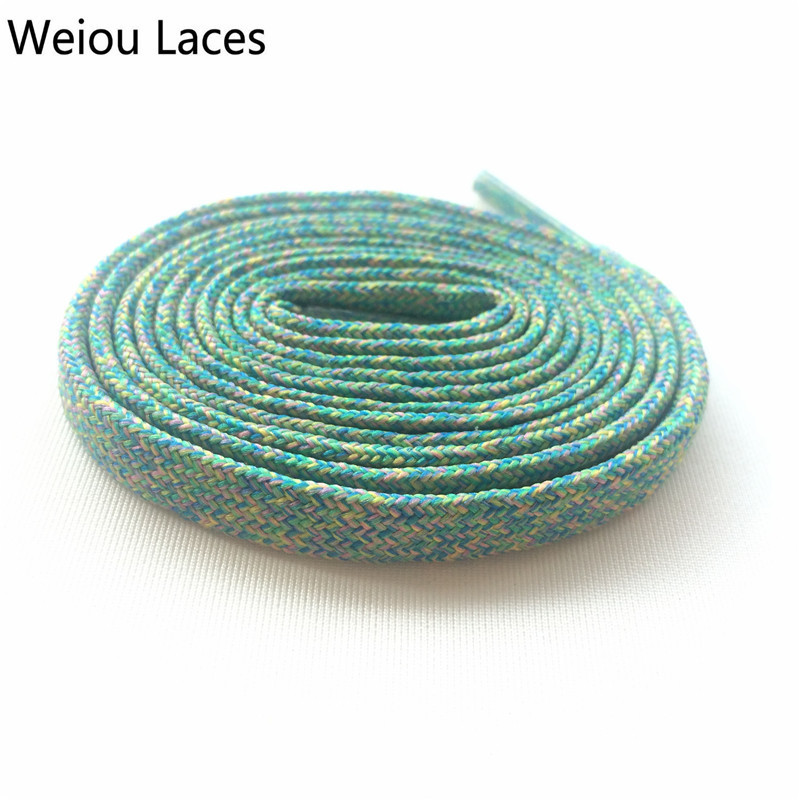 Weiou Flat Multicolor Shoelaces Designs Colourful Polyester Flyknit Shoe Laces Colored Shoe Strings For Sport Shoestrings Sport