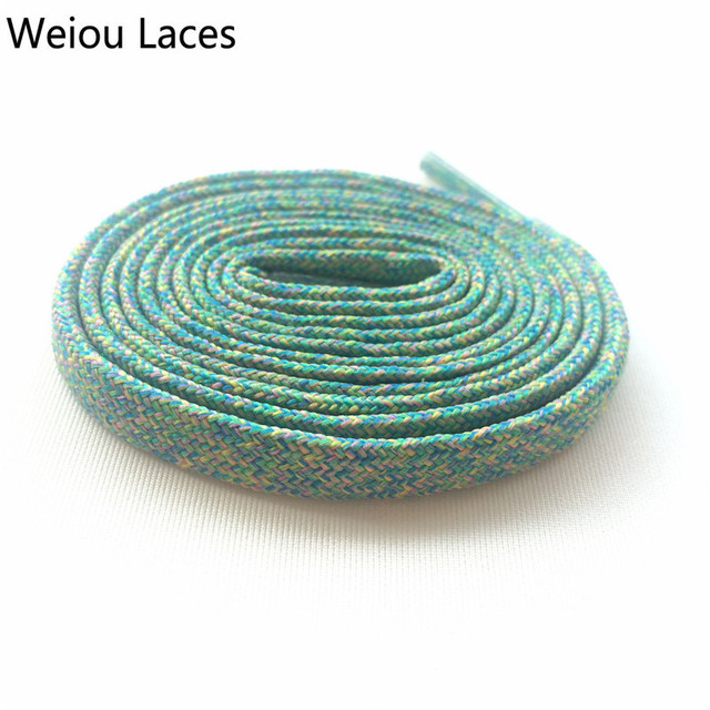 Weiou Flat Multicolor Shoelaces Designs Colourful Polyester Flyknit ...
