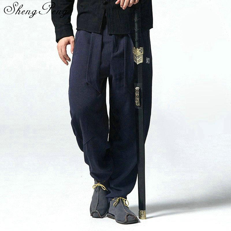 Штаны в китайском стиле Брюс Ли, штаны для кунг фу, китайский магазин одежды, традиционная китайская одежда для мужчин, Шанхай, Тан, CC271|Штаны| | АлиЭкспресс