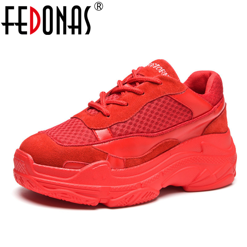 FEDONAS New Fashion Women Genuine Leather Sneakers Wedges Platforms Travel Shoes Creepers Female Casual Flats Ladies Shoes Woman new summer shoes women breathable air mesh woman loafers platforms female flats shoe casual wedges ladies footwear driving shoes