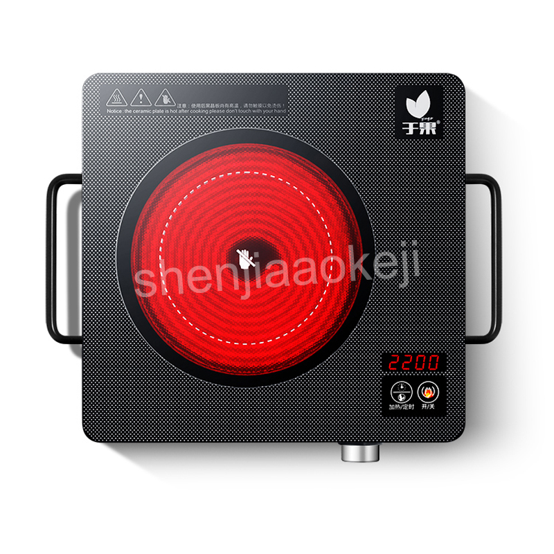 DL T22 Home Electric ceramic heaters Induction Cooker 2200W 220V Multifunctional Hot Plates Quick Heat Preset/Touch Count timer