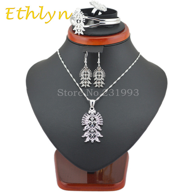 Ethlyn Bright Silver Plated Ethiopian Cross Jewelry Habesha Jewelry