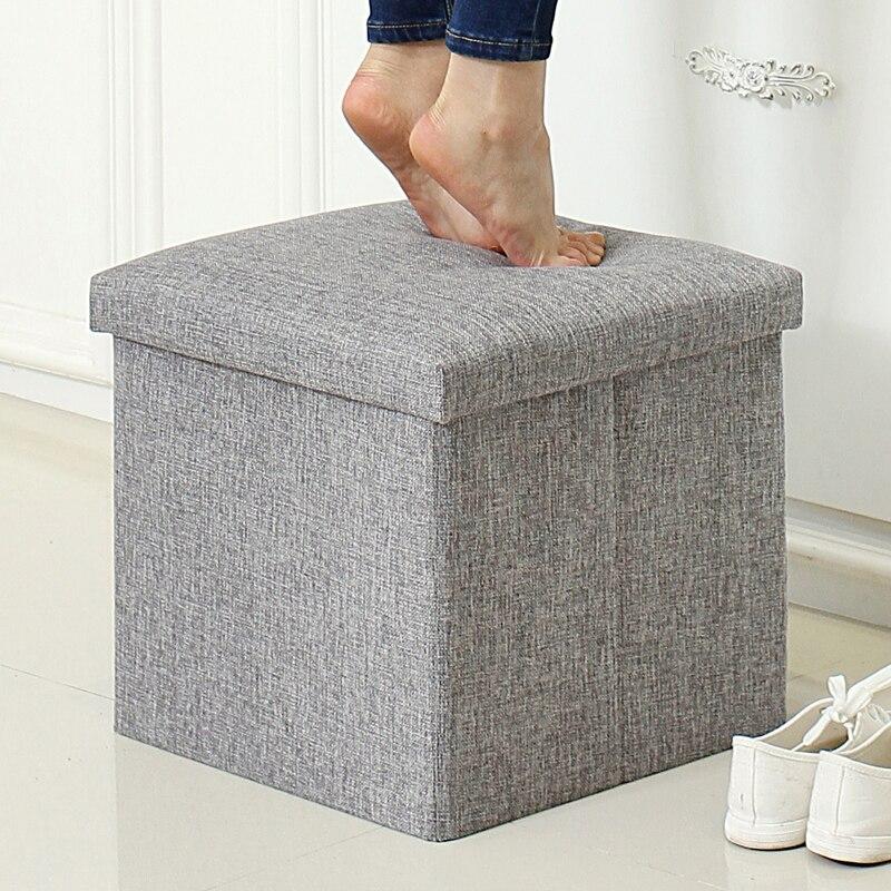 Storage Stool Sofa Folding Cloth Toys Multifunctional Storage Change A Shoe Stool