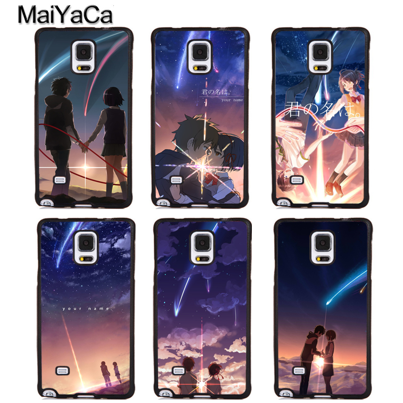 MaiYaCa Anime Your Name Kimi no Na wa Phone Cases For Samsung Galaxy S5 S6 S7 edge plus S8 S9 plus Note 4 5 8 Back Coque Cover