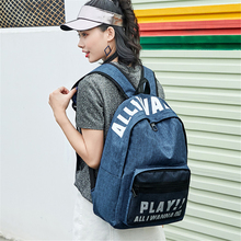Small fresh female shoulder bag high school junior students campus simple art literary custom