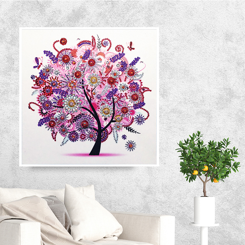 RUBOS DIY 5D Diamond Embroidery Colorful Tree Butterfly Bead Diamond Painting Cross Stitch Pearl Crystal Sale Hobby Gift Decor (22)