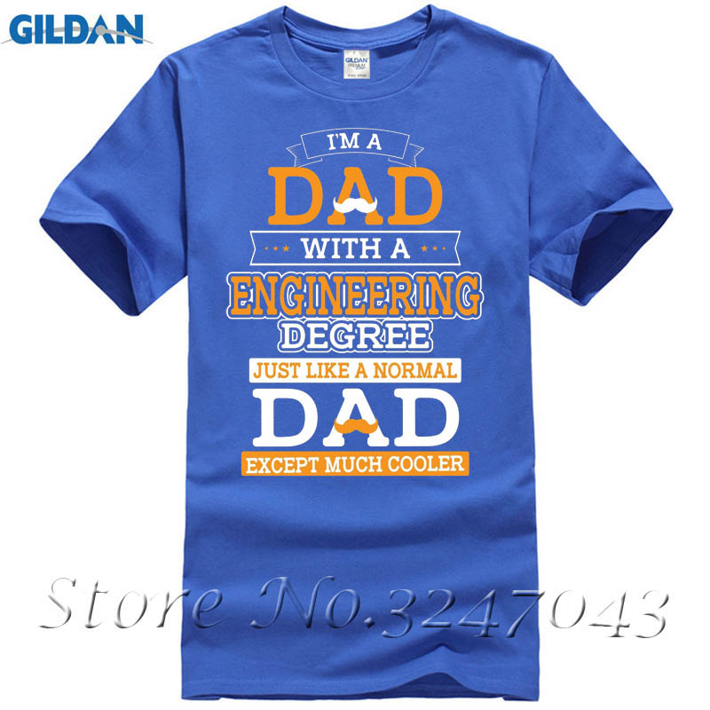 Im A Dad With Engineering Degree Cooler Than Normal Fathers Day Mens T-Shirt T Shirt Fashion