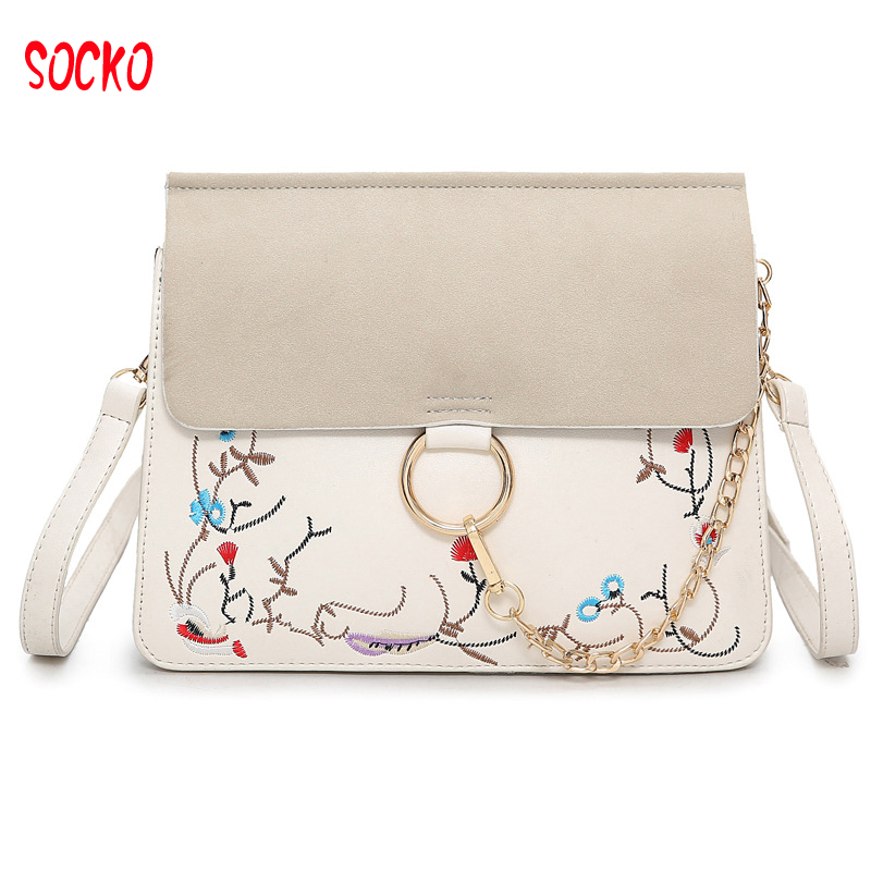 Female Corss Body Bag Rivet shoulder bag Lady Embroidered Square Messenger Bag for Dating H39ZX