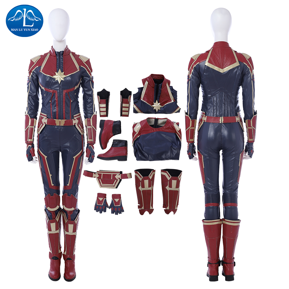 Captain Marvel Ms Marvel Costume Carol Danvers Cosplay Superhero Women Outfits