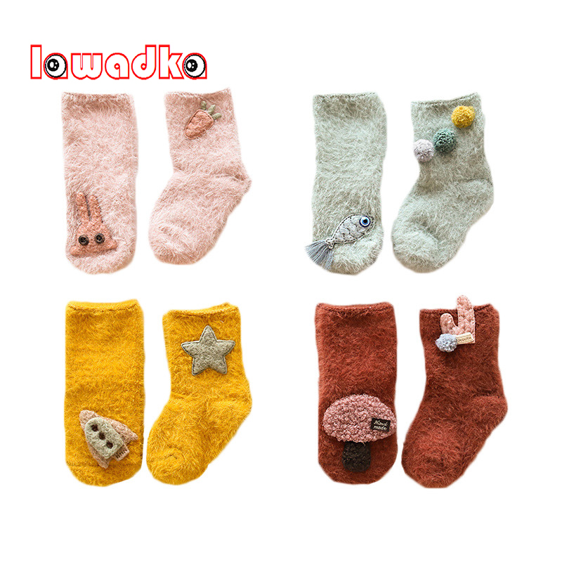 Lawadka Velvet Baby Socks Winter Fashion Baby Girl Socks Newborn Baby Boy Socks Stuff Clothes Accessories baby girl clothes baby winter suit spring and autumn warm baby boy clothes newborn fashion cotton clothes two sets of underwear