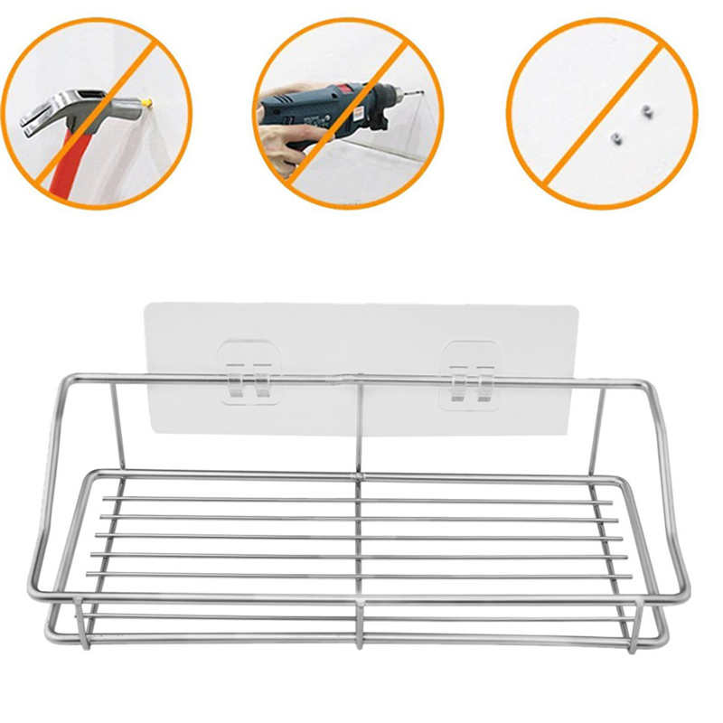 Image 5 - Kitchen Stainless Steel Storage Rack Towel Plate Drain Rack Dish Removable Holder Kitchen Bathroom Tableware Sink Dish Storage-in Racks & Holders from Home & Garden