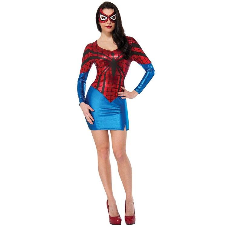 Halloween Kostuum.Sexy Vrouwen Spiderman Fancy Dress Classic Vrouwelijke