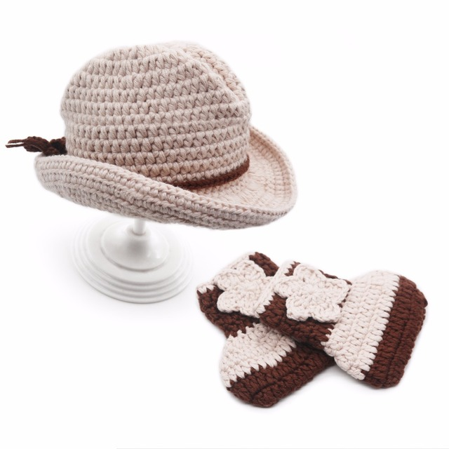 2643e9766 Fashion Newborn baby hand made Kid Hat Photography Props crochet Cap Girl  Boy Costume Cute Playsuit Clothes Knitting Accessories