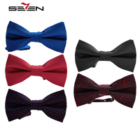 Seven7 High Quality Bow Ties For Men Groom Male Bowtie Formal Business Silk Dress Tuxedo Wedding
