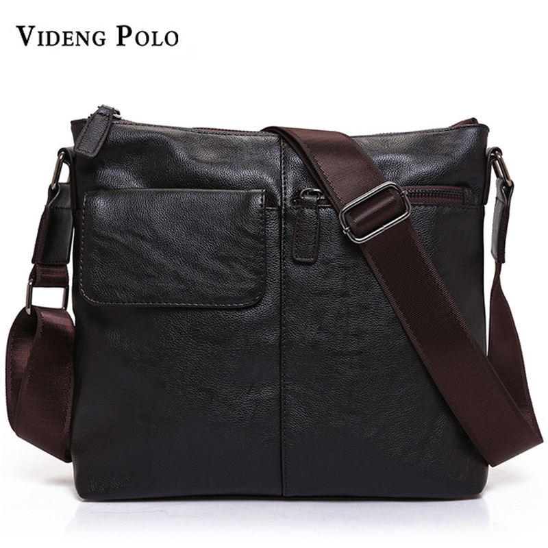 VIDENG POLO Brand New Arrived leather bag for Men fashion Mens messenger bag business bag male crossbody shoulder bag travel