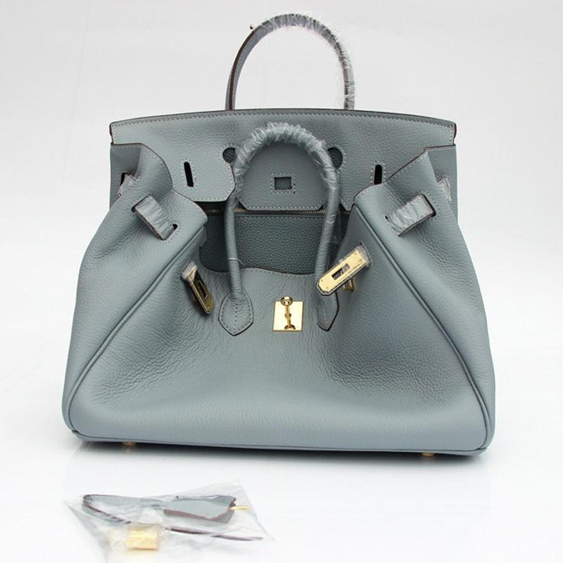 Hot Wholesale Price 35cm Famous Brand Women Genuine Leather Handbag Luxury Lock Designer Crossbody Shoulder Bag Bags Totes LY139